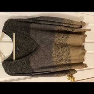 American Eagle Brown wide neck sweater
